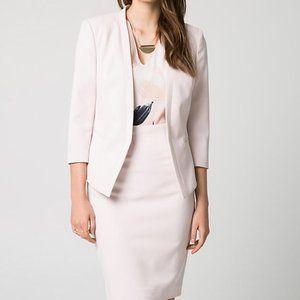 Le Chateau Crêpe Blazer & Skirt Suit Set Small